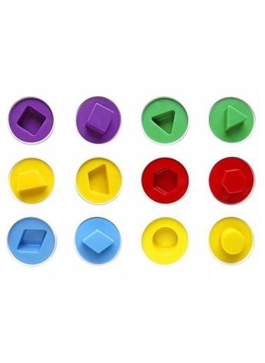Mashotrend Şekilli Yumurtalar Eğitici Oyuncak - 6 lı Zeka Oyunu Yumurtaları + Tangram Renkli